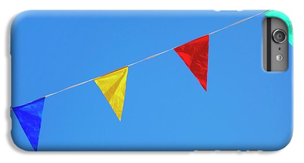 Bunting iPhone 7 Plus Case - Bunting Against A Blue Sky by Cordelia Molloy
