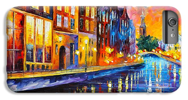 Afremov iPhone 7 Plus Case - Canal In Amsterdam by Leonid Afremov