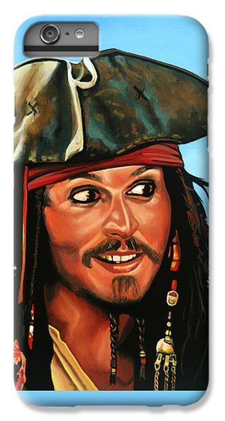 Johnny Depp iPhone 7 Plus Case - Captain Jack Sparrow Painting by Paul Meijering