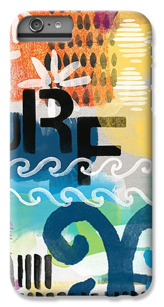Beach iPhone 7 Plus Case - Carousel #7 Surf - Contemporary Abstract Art by Linda Woods