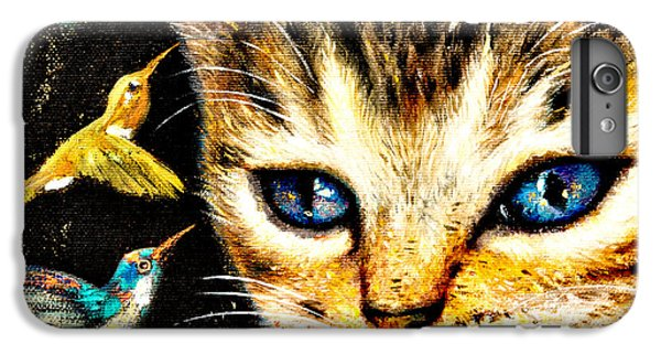 iPhone 7 Plus Case - Cat With Hummingbirds by Shijun Munns