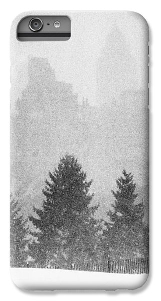 IPhone 7 Plus Case featuring the photograph Cedar Hill Snow Shapes by Dave Beckerman