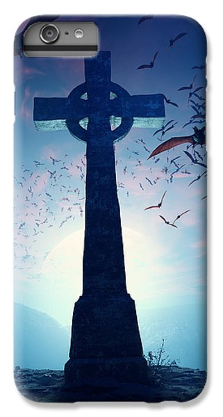 Celtic Cross With Swarm Of Bats IPhone 7 Plus Case by Johan Swanepoel