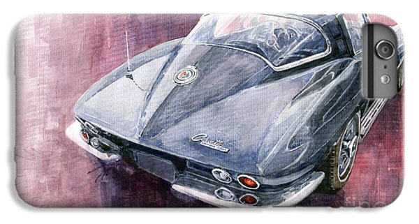 Car iPhone 7 Plus Case - Chevrolet Corvette Sting Ray 1965 by Yuriy Shevchuk