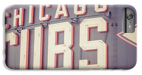 Chicago Cubs Sign Vintage Panoramic Picture IPhone 7 Plus Case by Paul Velgos