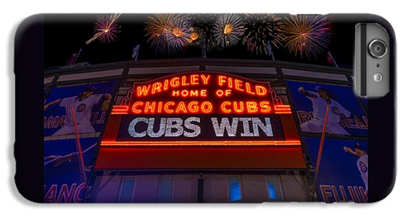 Chicago Cubs iPhone 7 Plus Case - Chicago Cubs Win Fireworks Night by Steve Gadomski