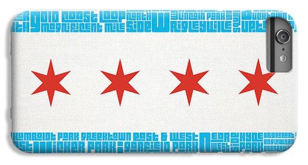 Michael Jordan iPhone 7 Plus Case - Chicago Flag Neighborhoods by Mike Maher