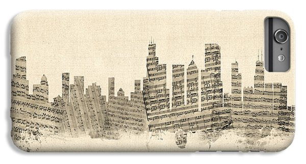 Chicago Illinois Skyline Sheet Music Cityscape IPhone 7 Plus Case by Michael Tompsett