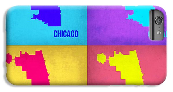University Of Illinois iPhone 7 Plus Case - Chicago Pop Art Map 1 by Naxart Studio