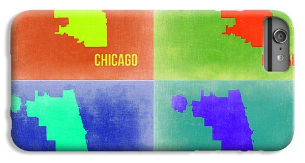 University Of Illinois iPhone 7 Plus Case - Chicago Pop Art Map 2 by Naxart Studio