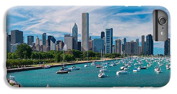 Sailboat iPhone 7 Plus Case - Chicago Skyline Daytime Panoramic by Adam Romanowicz