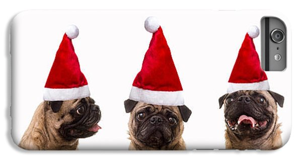 Pug iPhone 7 Plus Case - Christmas Caroling Dogs by Edward Fielding