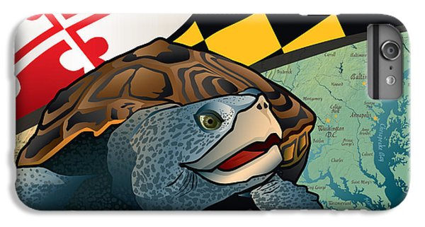 Diamondback iPhone 7 Plus Case - Citizen Terrapin Maryland's Turtle by Joe Barsin