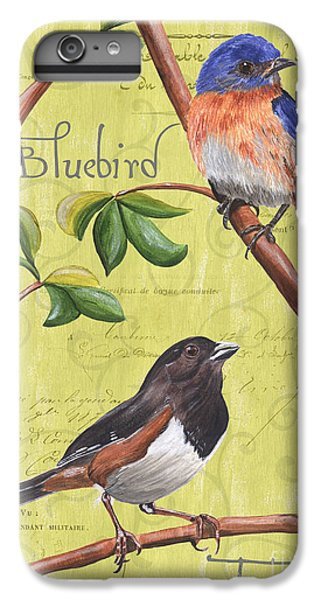 Bluebird iPhone 7 Plus Case - Citron Songbirds 1 by Debbie DeWitt
