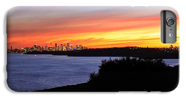 IPhone 7 Plus Case featuring the photograph City Lights In The Sunset by Miroslava Jurcik