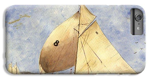 Barcelona iPhone 7 Plus Case - Classic Yacht Barcelona by Juan  Bosco