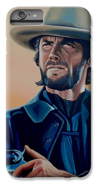 Eagle iPhone 7 Plus Case - Clint Eastwood Painting by Paul Meijering