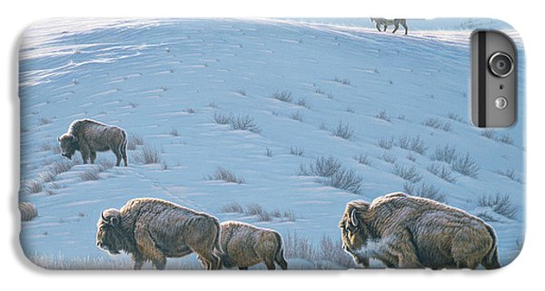 Buffalo iPhone 7 Plus Case - Cold Day At Lamar by Paul Krapf