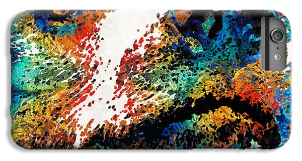 Colorful Bear Art - Bear Stare - By Sharon Cummings IPhone 7 Plus Case