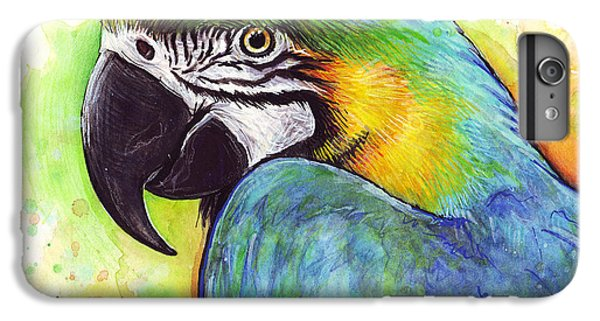 Parrot iPhone 7 Plus Case - Macaw Watercolor by Olga Shvartsur