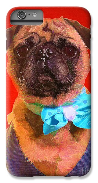 Pug iPhone 7 Plus Case - Colorful Dapper Pug by Edward Fielding