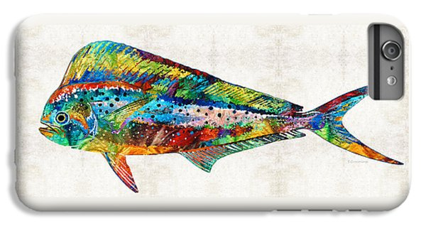 Colorful Dolphin Fish By Sharon Cummings IPhone 7 Plus Case by Sharon Cummings
