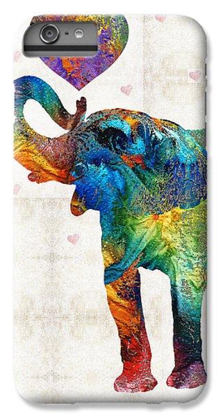 Colorful Elephant Art - Elovephant - By Sharon Cummings IPhone 7 Plus Case
