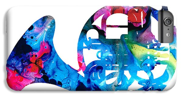 Colorful French Horn 2 - Cool Colors Abstract Art Sharon Cummings IPhone 7 Plus Case by Sharon Cummings