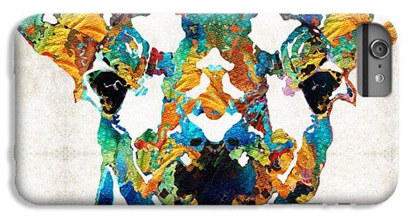 Colorful Giraffe Art - Curious - By Sharon Cummings IPhone 7 Plus Case