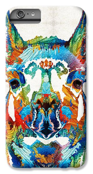 Colorful Llama Art - The Prince - By Sharon Cummings IPhone 7 Plus Case by Sharon Cummings