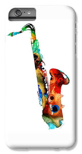 Saxophone iPhone 7 Plus Case - Colorful Saxophone By Sharon Cummings by Sharon Cummings