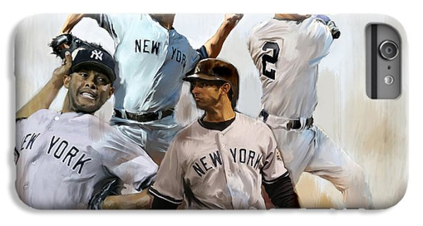 Derek Jeter iPhone 7 Plus Case - Core  Derek Jeter Mariano Rivera  Andy Pettitte Jorge Posada by Iconic Images Art Gallery David Pucciarelli