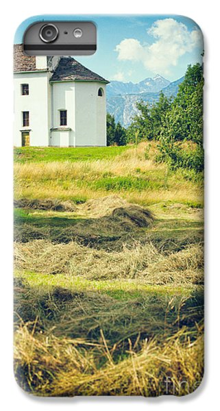 IPhone 7 Plus Case featuring the photograph Country Church With Hay by Silvia Ganora