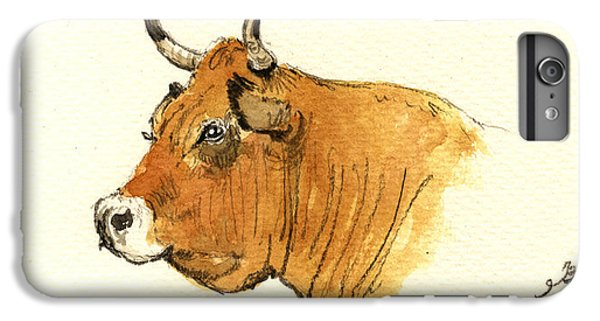 Bull iPhone 7 Plus Case - Cow Head Study by Juan  Bosco
