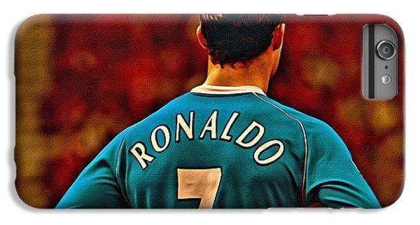 Cristiano Ronaldo iPhone 7 Plus Case - Cristiano Ronaldo Poster Art by Florian Rodarte