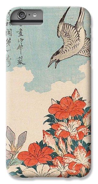 Cuckoo iPhone 7 Plus Case - Cuckoo And Azaleas by Katsushika Hokusai