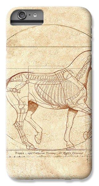 Animals iPhone 7 Plus Case - da Vinci Horse in Piaffe by Catherine Twomey