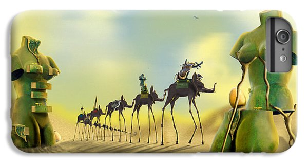 Dali On The Move  IPhone 7 Plus Case by Mike McGlothlen
