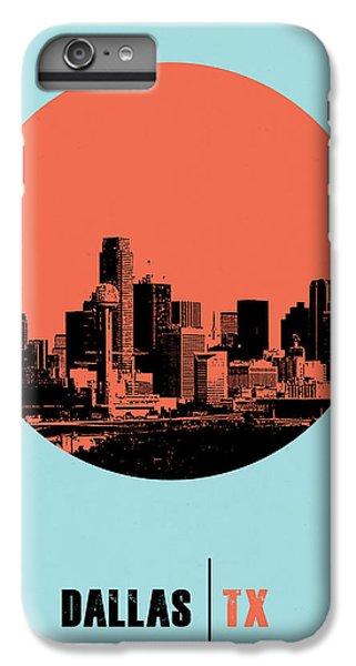 Dallas iPhone 7 Plus Case - Dallas Circle Poster 1 by Naxart Studio