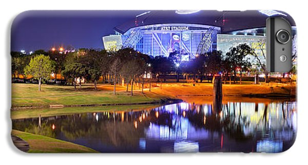 Dallas Cowboys Stadium At Night Att Arlington Texas Panoramic Photo IPhone 7 Plus Case by Jon Holiday