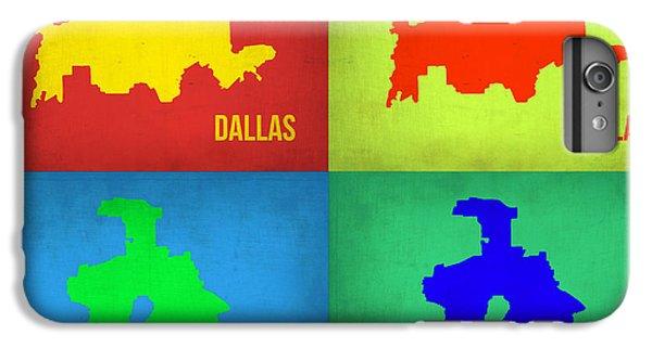 Dallas iPhone 7 Plus Case - Dallas Pop Art Map 1 by Naxart Studio