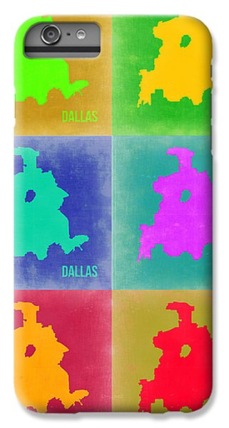 Dallas iPhone 7 Plus Case - Dallas Pop Art Map 3 by Naxart Studio