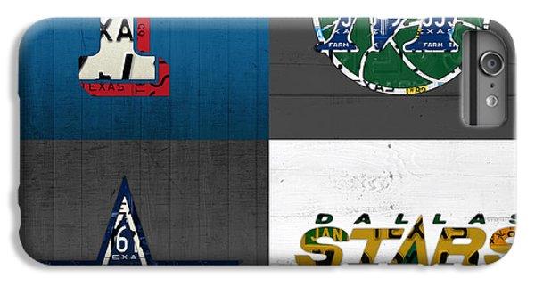 Dallas Sports Fan Recycled Vintage Texas License Plate Art Rangers Mavericks Cowboys Stars IPhone 7 Plus Case