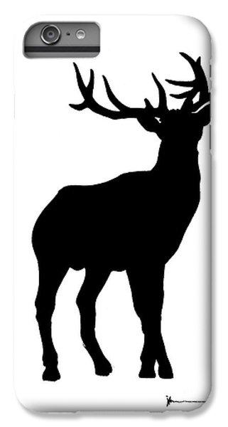 Deer iPhone 7 Plus Case - Deer Figurine Silhouette Watercolor Art Print Painting by Joanna Szmerdt
