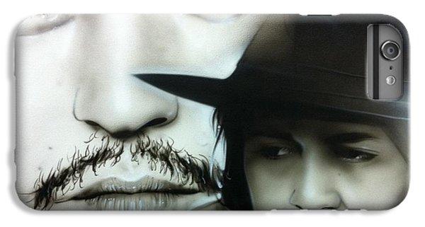 Johnny Depp - ' Depp ' IPhone 7 Plus Case by Christian Chapman Art