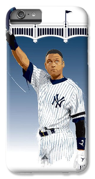 Derek Jeter iPhone 7 Plus Case - Derek Jeter 3000 Hits by Scott Weigner