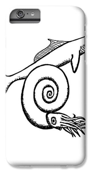 Devonian Shark And Ammonoid IPhone 7 Plus Case by Richard Bizley