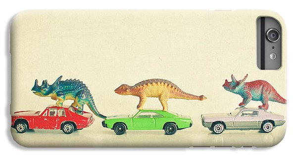 Dinosaur iPhone 7 Plus Case - Dinosaurs Ride Cars by Cassia Beck