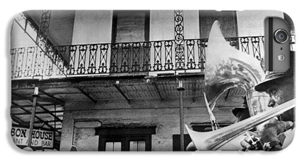 Trombone iPhone 7 Plus Case - Dirge For Bourbon House by Underwood Archives