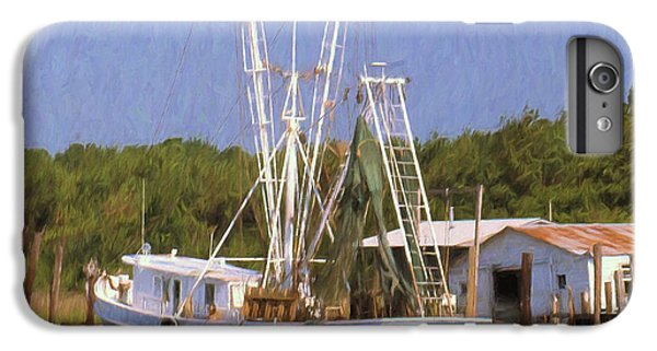 Shrimp Boats iPhone 7 Plus Case - Dock Side by Richard Rizzo